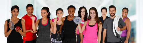Group Fitness classe in the workplace